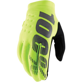 100% Brisker Gloves Cold Weather Youth, yellow/black
